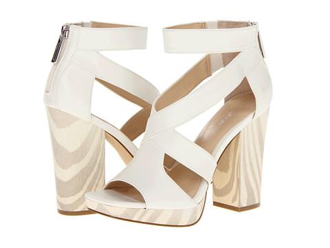 Pantofi Calvin Klein - Verene - Antique White/Ash Calf