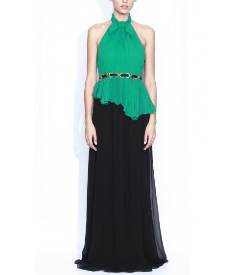Rochii elegante: Rochie Nissa - Rochie Rs5007 - Verde/Negru