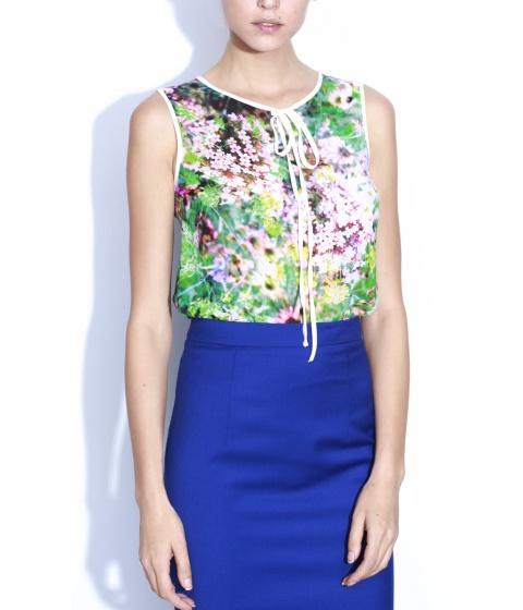 Bluze Nissa - Bluza B5193 - Imprimat/Multicolor/Verde
