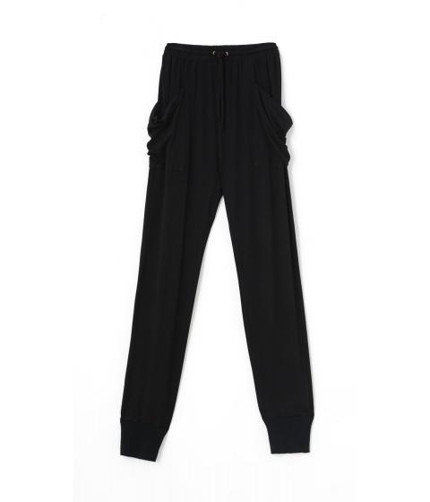 Pantaloni Superfine - Pantalon Dama Negru - Negru
