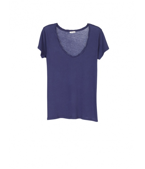 Tricouri American Vintage - Tricou Dama Albastru - Albastru