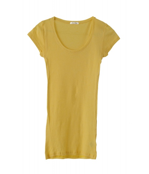 Tricouri American Vintage - Tricou galben - Galben