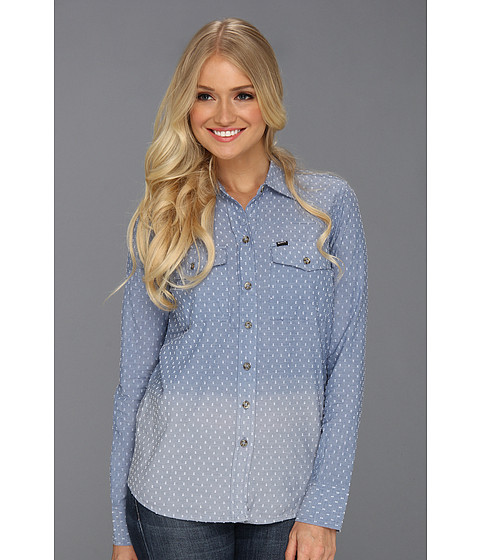 Camasi Hurley - Wilson L/S Shirt (Juniors) - Blue Dobby Chambray