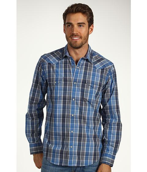 Bluze Lucky Brand - Monterey Plaid Western Shirt - Blue Multi