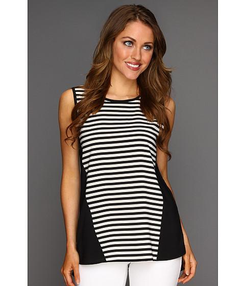 Tricouri Calvin Klein - Sleeveless Stripe PullOver - Ivory/Black