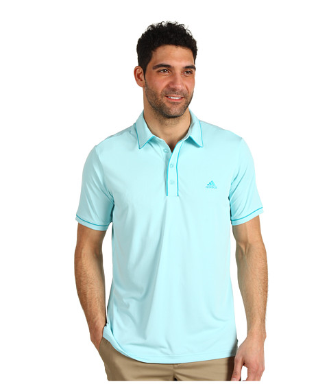 Tricouri adidas - Fashion Performance Solid Polo \13 - Moonrock/White/Aqua