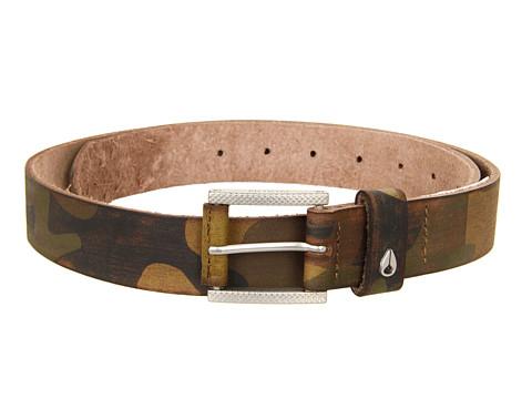 Curele Nixon - Americana Slim Belt - Woodland Camo