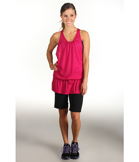 Rochii Nike - Knit Dress - Sport Fuchsia/Metallic Red Bronze
