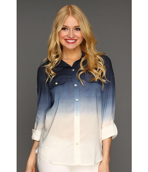 Bluze Lucky Brand - Brooke Dip Dye Shirt - Navy Multi