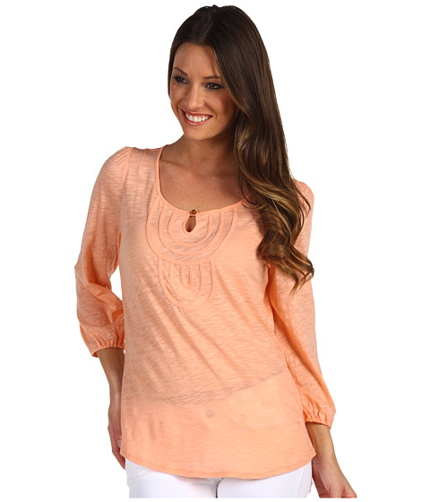 Bluze Lucky Brand - Carly Medallion Bib Top - Spring Salmon