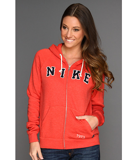 Bluze Nike - Rally Full-Zip Hoodie - Red Reef/Heather