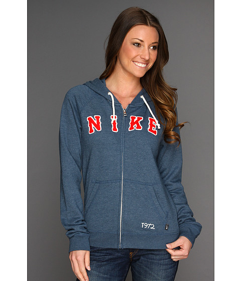 Bluze Nike - Rally Full-Zip Hoodie - Squadron Blue/Heather