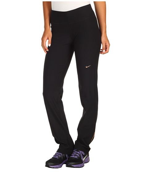 Pantaloni Nike - Knit Pant - Black/Black/Black/Metallic Red Bronze