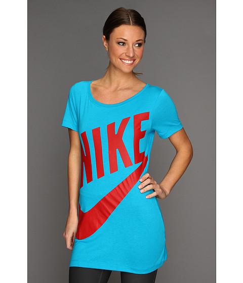 Tricouri Nike - Exploded Sportswear BF Tee - Neo Turquoise/Dark Grey Heather/Hyper Red