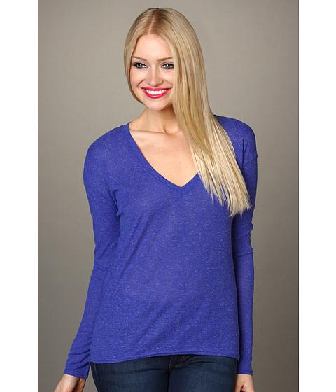 Bluze Hurley - Solid Drapy Rib L/S Top Juniors - Kensington Blue