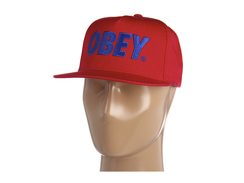 Sepci Obey - The City Snapback Hat - Red