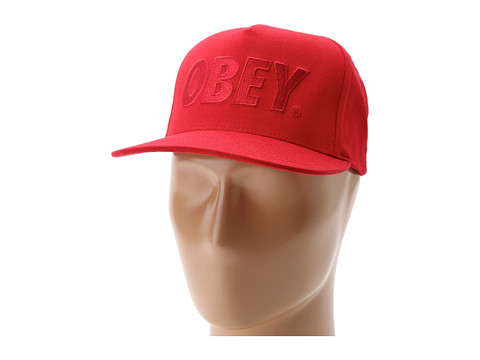 Sepci Obey - The City Snapback Hat - Dark Red
