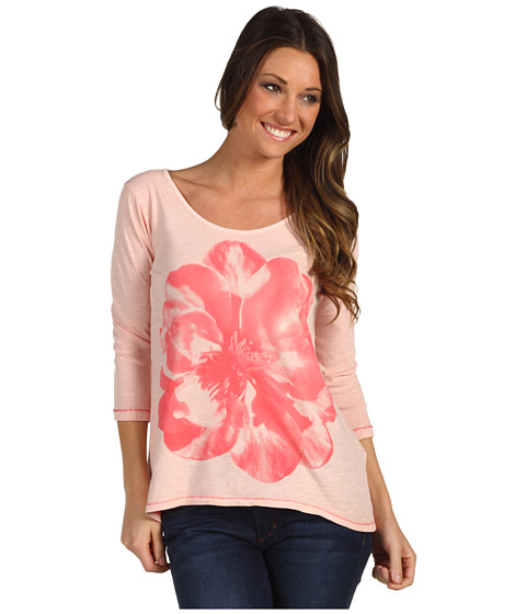 Bluze Lucky Brand - Washed Hibiscus Tee - Blossom