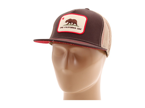 Sepci Toes on the Nose - One California Dayâ⢠Patch Trucker Hat - Brown