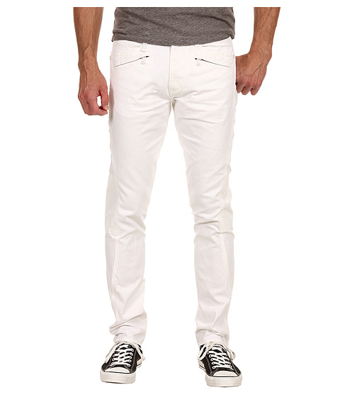 Pantaloni Calvin Klein - Coated Biker Jean Rocker - Bone White