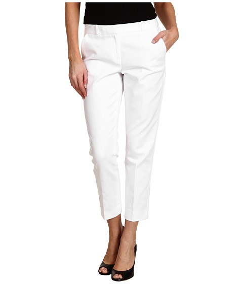 Pantaloni Anne Klein New York - Slim Crop Pant in White - White