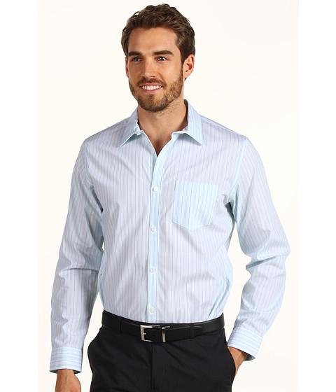 Tricouri Calvin Klein - Non-Iron L/S Yarn Dye Mini Stripe Poplin Shirt - Tahoe