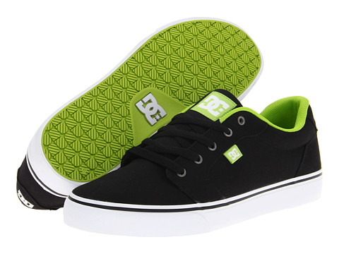 Adidasi DC - Anvil TX - Black/Soft Lime