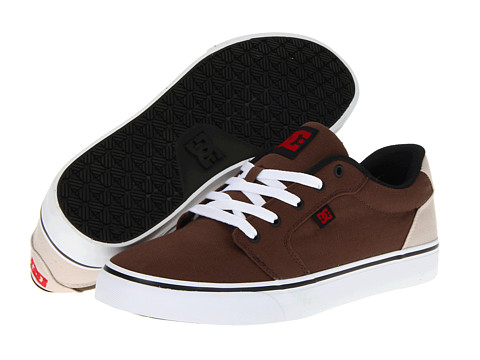 Adidasi DC - Anvil TX - Dark Chocolate/True Red