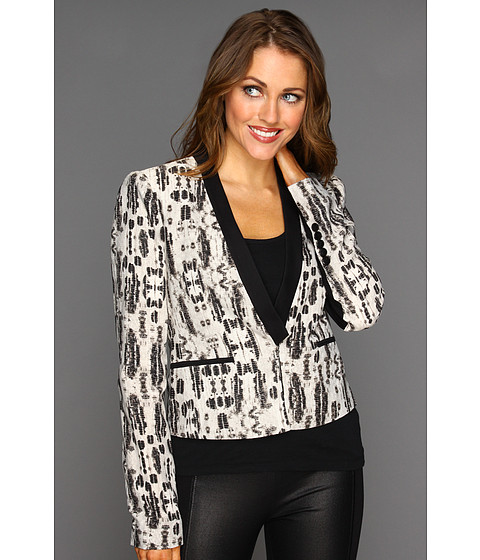 Jachete BCBGMAXAZRIA - Guy Printed Tuxedo Jacket - Black Combo