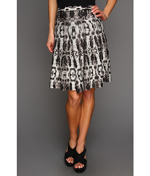 Fuste BCBGMAXAZRIA - Albie A-Line Skirt - Black/Combo