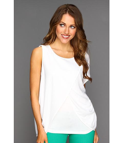 Bluze BCBGMAXAZRIA - Elodie Wrap Front Top - White