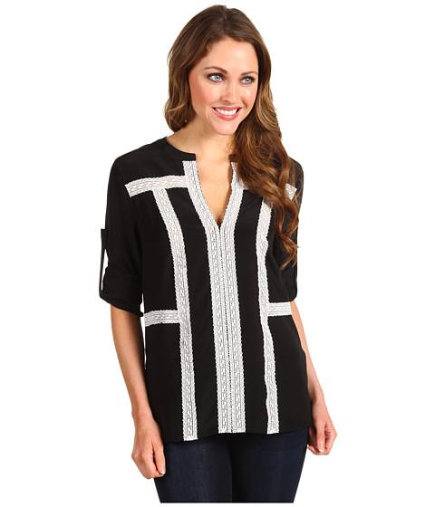 Bluze BCBGMAXAZRIA - Maggie Crochet Trim Top - Black Combo