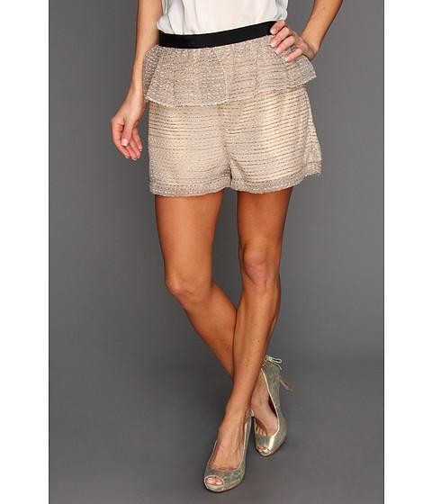 Pantaloni BCBGeneration - Peplum Organza Short - Beige