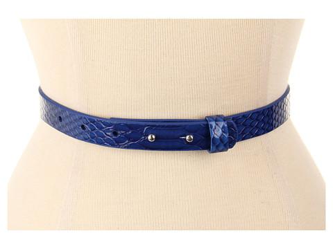 Curele Lodis Accessories - Wilshire Adjustable Collar Pin Pant Belt - Sapphire
