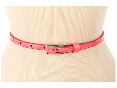 Curele Lodis Accessories - Wilshire Thin Inset Pant Belt - Coral