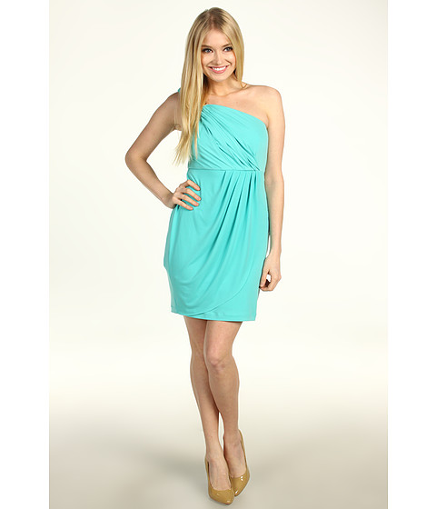 Rochii Max and Cleo - Isabella Jersey One-Shoulder Dress - Aquamarine