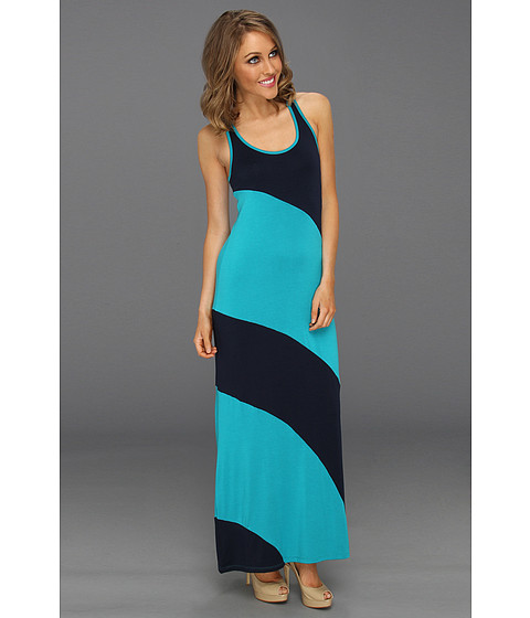 Rochii Michael Stars - Stella Color Block Modal Jersey Maxi Dress - Night Sky/Cove
