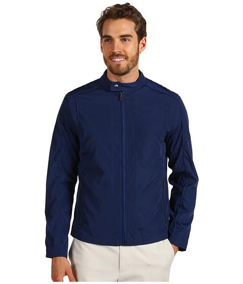 Jachete Calvin Klein - Full Zip Logo Moto Jacket - Blue Rush