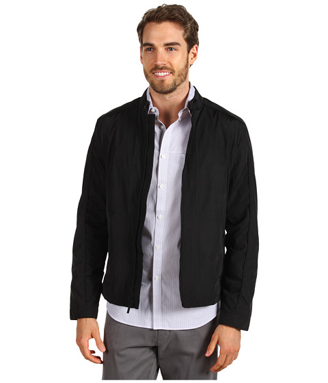 Jachete Calvin Klein - Full Zip Logo Moto Jacket - Black