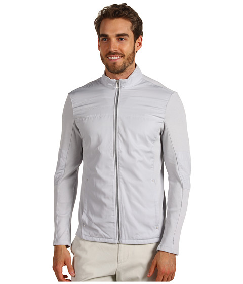 Jachete Calvin Klein - L/S Full Zip Mock Neck French Terry Twill - Pedal Grey