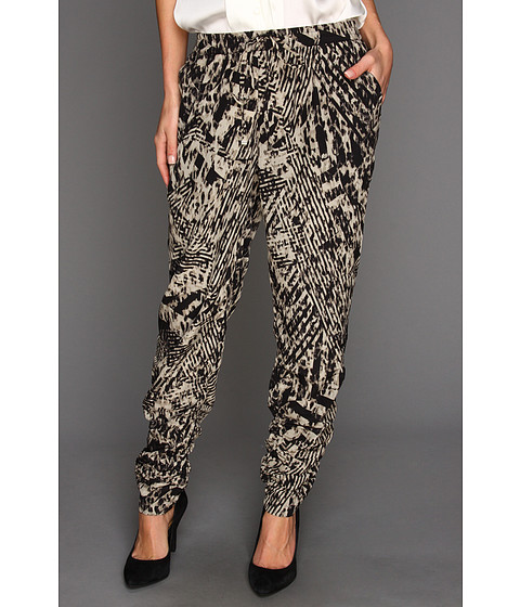 Pantaloni Kenneth Cole - Callie Animal-Printed Ruched Pant - Sandstone Combo