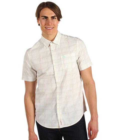 Camasi Original Penguin - S/S Optical Plaid Shirt - Bright White