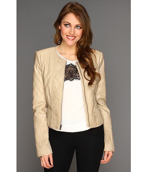 Jachete BCBGMAXAZRIA - Leo Faux Leather Jacket - Light Khaki