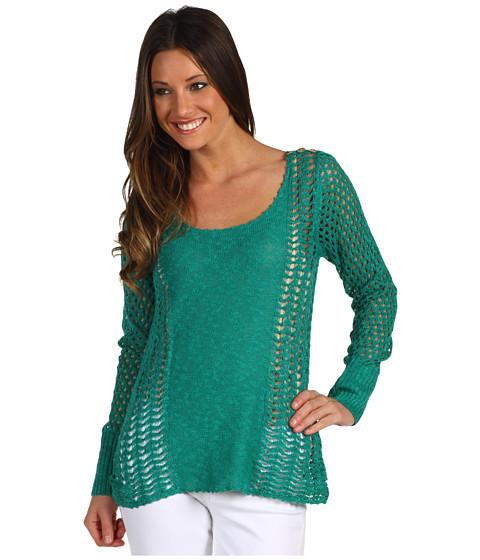 Bluze Lucky Brand - Miranda Mixed Stitch Sweater - Alhambra