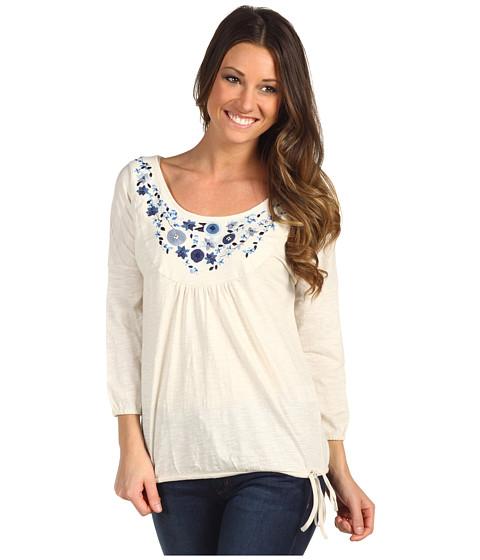 Bluze Lucky Brand - Grace Embroidered Bib Top - Nigori