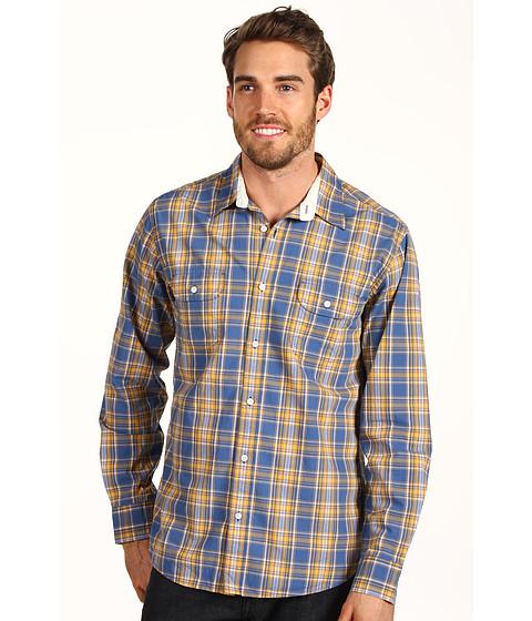 Bluze Lucky Brand - Deronda Plaid 2 Pocket Shirt - Yellow/Blue