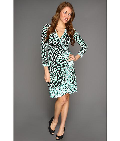 Rochii BCBGMAXAZRIA - Petite Printed Wrap Dress - Light Evergreen Combo