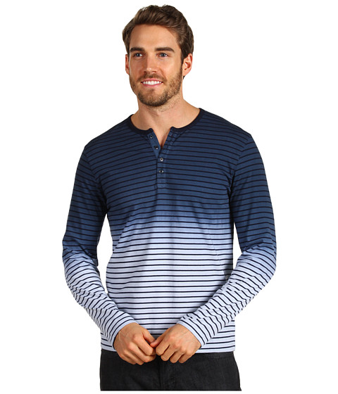 Bluze Lucky Brand - Dip Dye Henley - American Navy