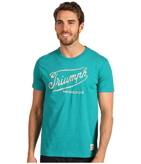 Tricouri Lucky Brand - Triumph Handstitch Tee - Teal Blue