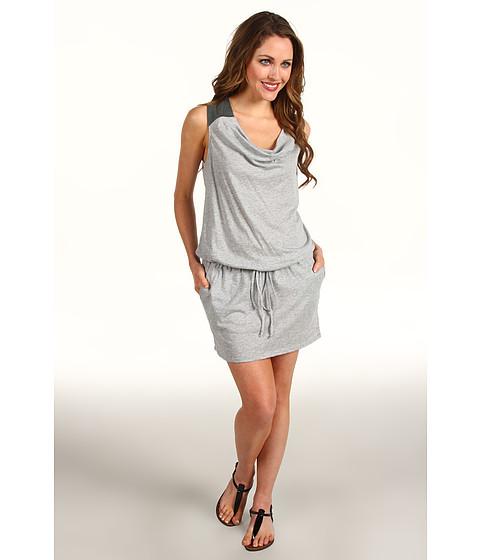 Rochii Michael Stars - Lambskin Leather Trim Tank Dress - Heather Grey